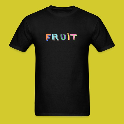 3D FRUIT (Black) - Men's T-Shirt