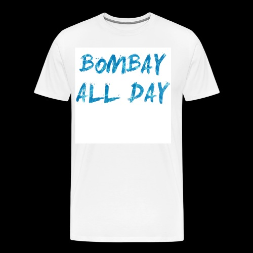Bombay All Day Mens Tee - Water [White] - Men's Premium T-Shirt