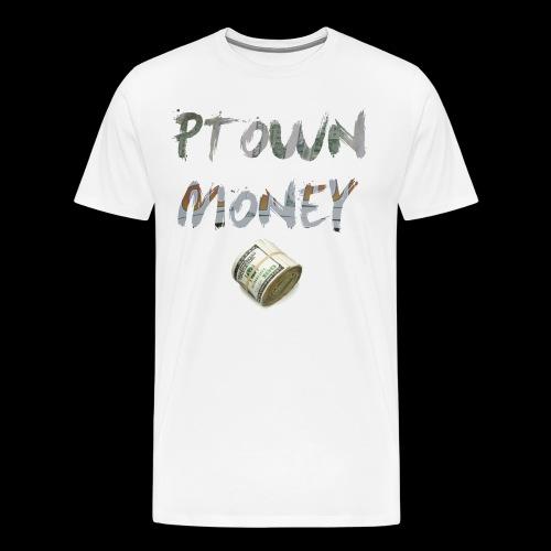 PTown Money Mens Tee - Cash [White] - Men's Premium T-Shirt