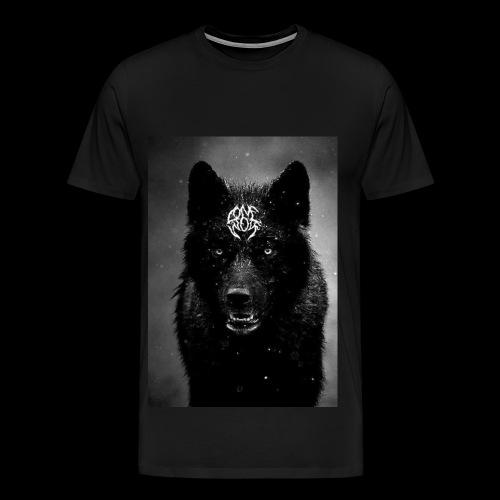 BLACKxWOLF T-SHIRT // LONEWOLF - Men's Premium T-Shirt