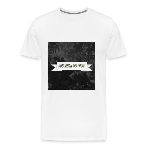 Suburban Trapping Leaves Black and White Tee - Men's Premium T-Shirt