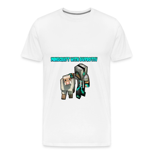 WHITE T-SHIRTS FOR MEN - Men's Premium T-Shirt
