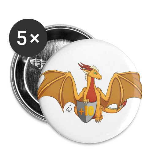 +10 to Fire Resist 5 Pack Button - Large Buttons