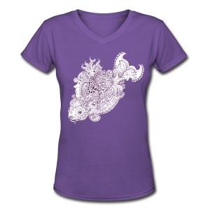 Doodlefish - Women's V-Neck T-Shirt