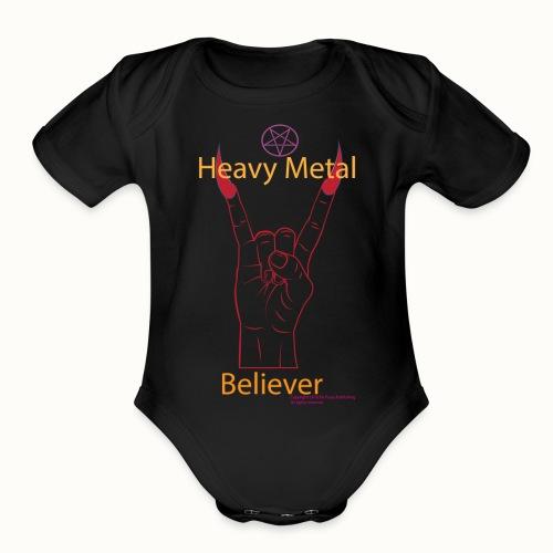 Baby's Heavy Metal Believer - Organic Short Sleeve Baby Bodysuit