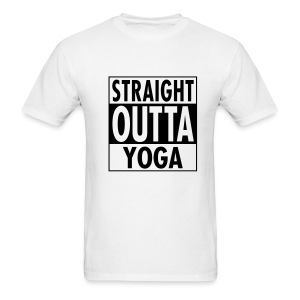 Straight Outta Yoga Men's Tee - Men's T-Shirt
