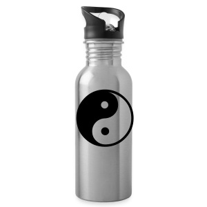 Ying Yang Water Bottle in Silver - Water Bottle