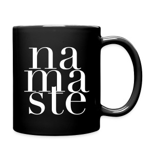 Namaste Mug  in Black - Full Color Mug