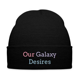 Our Galaxy Desires Beanie - Knit Cap with Cuff Print