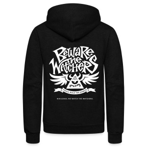 Beware the Watchers - Unisex Fleece Zip Hoodie by American Apparel