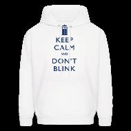 Hoodies ~ Men's Hoodie ~ Keep Calm and Don't Blink - Light