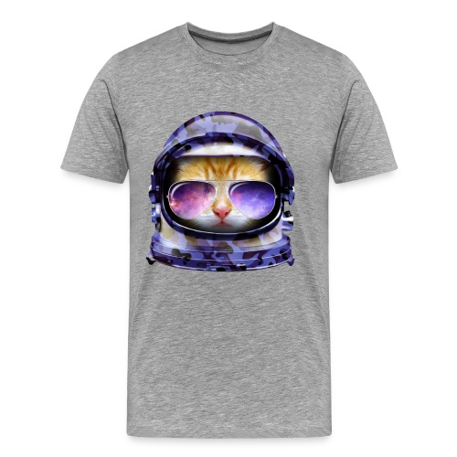 Kitty in Space Blue Camo - Men's Premium T-Shirt