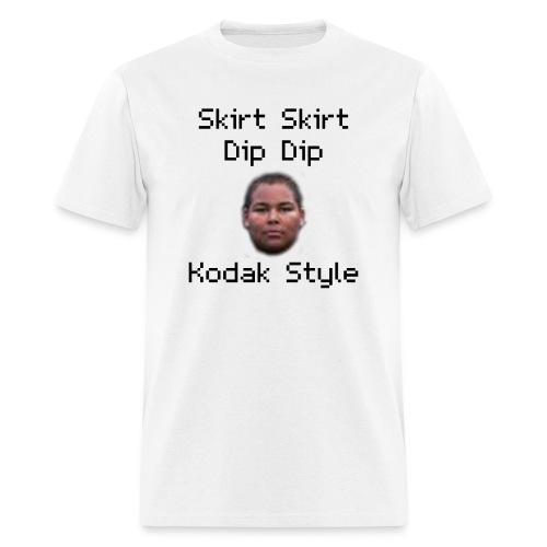 Skirt Skirt Dip Dip Kodak Style (White) - Men's T-Shirt