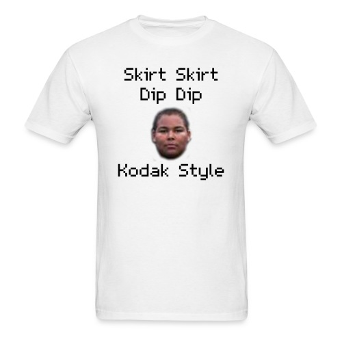 Skirt Skirt Dip Dip Kodak Style (White) - Men's T-Shirt