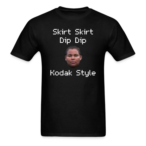Skirt Skirt Dip Dip Kodak Style (Black) - Men's T-Shirt