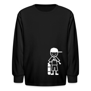 Skateboard Kid Kid's Tee - Kids' Long Sleeve T-Shirt
