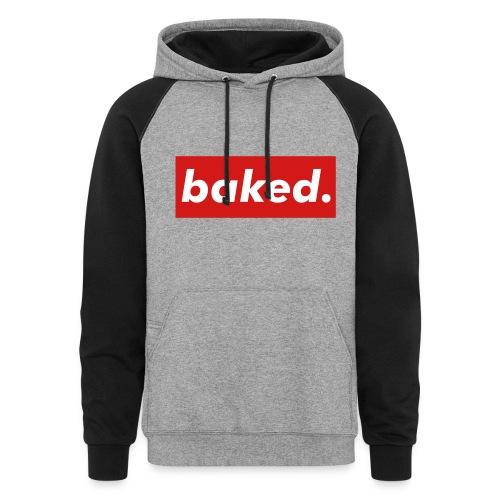 baked. - Colorblock Hoodie