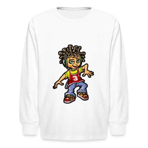Rap Boy Kid's Long Sleeve Tee - Kids' Long Sleeve T-Shirt