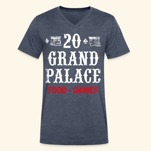 20 Grand Plalace - Men's V-Neck T-Shirt by Canvas