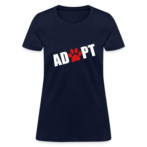 Women's Adopt Tee  - Women's T-Shirt