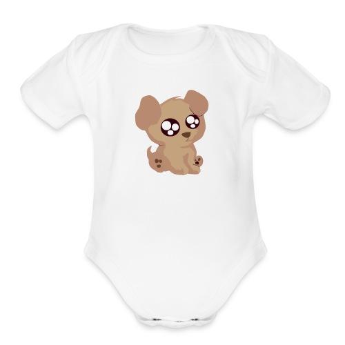 Baby One Piece - CutePuppy - Organic Short Sleeve Baby Bodysuit
