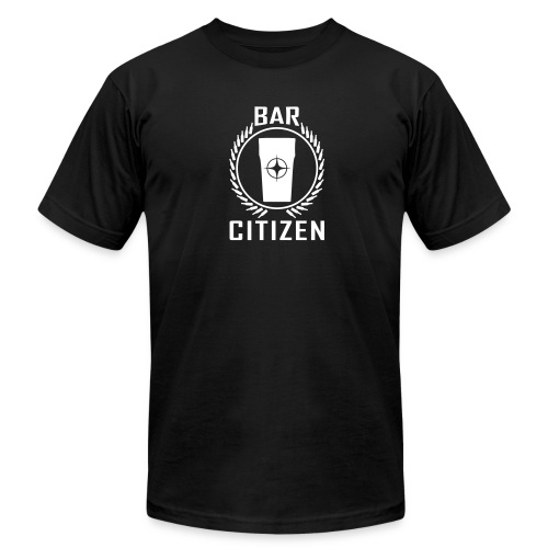Bar Citizen American Apparel (White Logo) - Men's T-Shirt by American Apparel