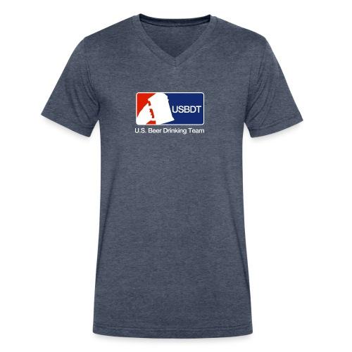 U.S. Beer Drinking Team - V  Tee - Men's V-Neck T-Shirt by Canvas