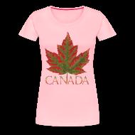 T-Shirts ~ Women's Premium T-Shirt ~ Women's Canada Maple Leaf T-shirt Canada Souvenir Shirts