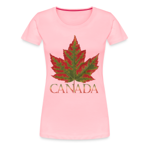 Women's Canada Maple Leaf T-shirt Canada Souvenir Shirts - Women's Premium T-Shirt