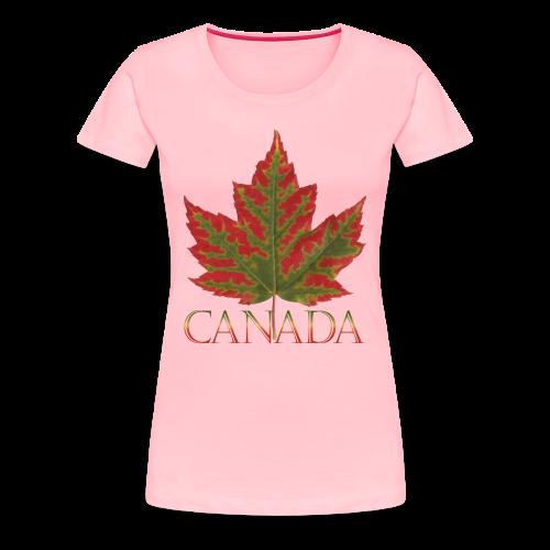 Women's Canada Maple Leaf T-shirt Canada Souvenir Shirts - Women's Premium T-Shirt
