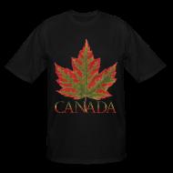 T-Shirts ~ Men's Tall T-Shirt ~ Men's Tall Canada T-shirts Canada Maple Leaf Plus Size Shirts