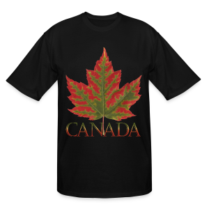 Men's Tall Canada T-shirts Canada Maple Leaf Plus Size Shirts - Men's Tall T-Shirt