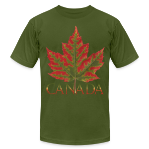Men's Canada Maple Leaf T-shirt Canada Souvenir Shirts - Men's T-Shirt by American Apparel