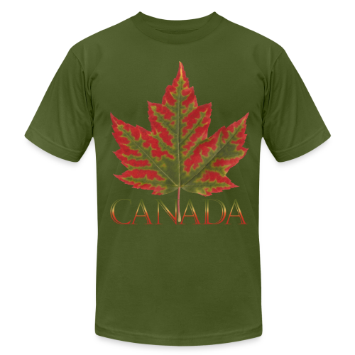 Men's Canada Maple Leaf T-shirt Canada Souvenir Shirts - Men's Fine Jersey T-Shirt