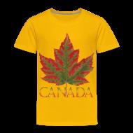 Baby & Toddler Shirts ~ Toddler Premium T-Shirt ~ Toddler's Canada T-shirt Canada Maple Leaf Shirts