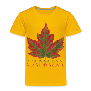 Toddler's Canada T-shirt Canada Maple Leaf Shirts - Toddler Premium T-Shirt