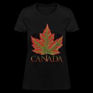 T-Shirts ~ Women's T-Shirt ~ Women's Canada Maple Leaf T-shirt Plus Size Canada Shirts