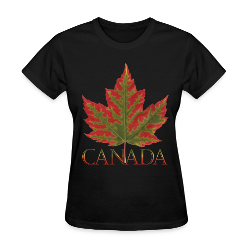 Women's Canada Maple Leaf T-shirt Plus Size Canada Shirts - Women's T-Shirt