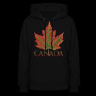 Hoodies ~ Women's Hoodie ~ Women's Canada Maple Leaf Hoodie Canada Souvenir Shirts