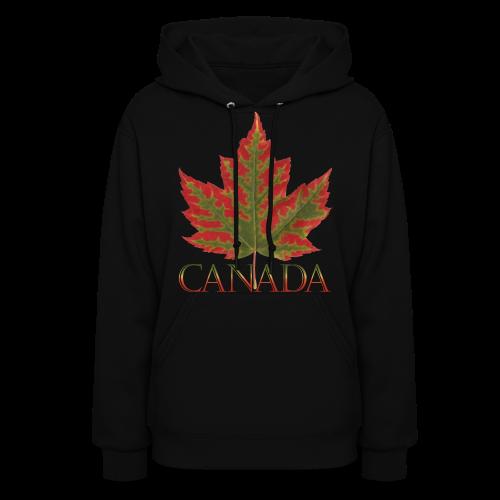 Women's Canada Maple Leaf Hoodie Canada Souvenir Shirts - Women's Hoodie
