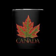 Mugs & Drinkware ~ Full Color Mug ~ Canada Cup Beautiful Autumn Maple Leaf Souvenir Mugs