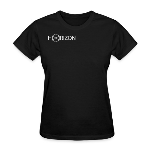 Horizon Original Shoulder Logo T-shirt [WHITE TEXT] - Women's T-Shirt
