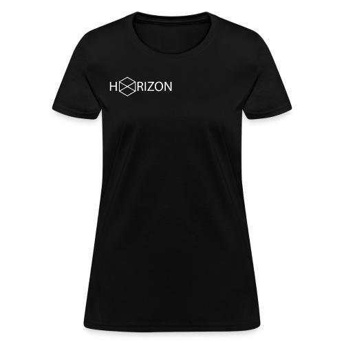 Horizon Original Shoulder Logo T-shirt [WHITE TEXT] - Women's T-Shirt