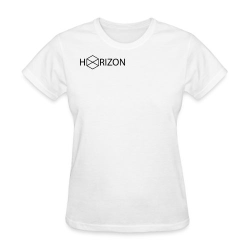 Horizon Original Shoulder Logo T-shirt [BLACK TEXT] - Women's T-Shirt