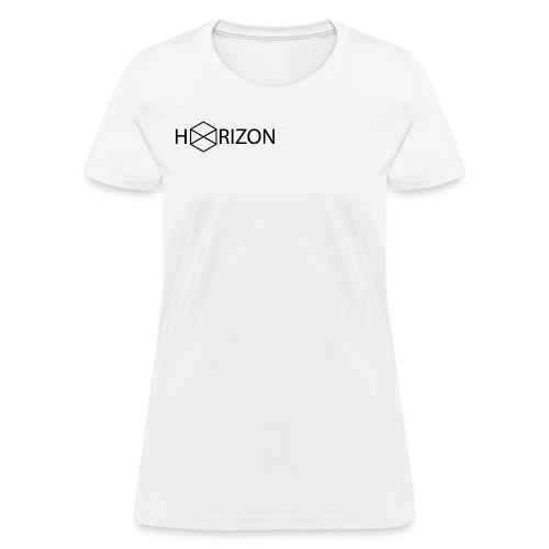 Horizon Original Shoulder Logo T-shirt [BLACK TEXT] - Women's T-Shirt
