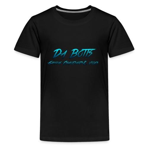 Da Botts Gaming Challenges & Vlogs T-Shirt ( Dark Blue and Turqoise ) - Kids' Premium T-Shirt