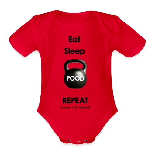 Eat, Sleep, Pood - Organic Short Sleeve Baby Bodysuit