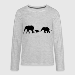 Elephants, Elephant Kids' Shirts - Kids' Premium Long Sleeve T-Shirt