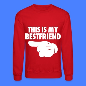This Is My Bestfriend (Pointing Left) Long Sleeve Shirts - Crewneck Sweatshirt