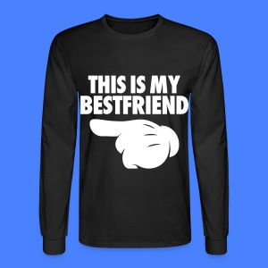 This Is My Bestfriend (Pointing Left) Long Sleeve Shirts - Men's Long Sleeve T-Shirt